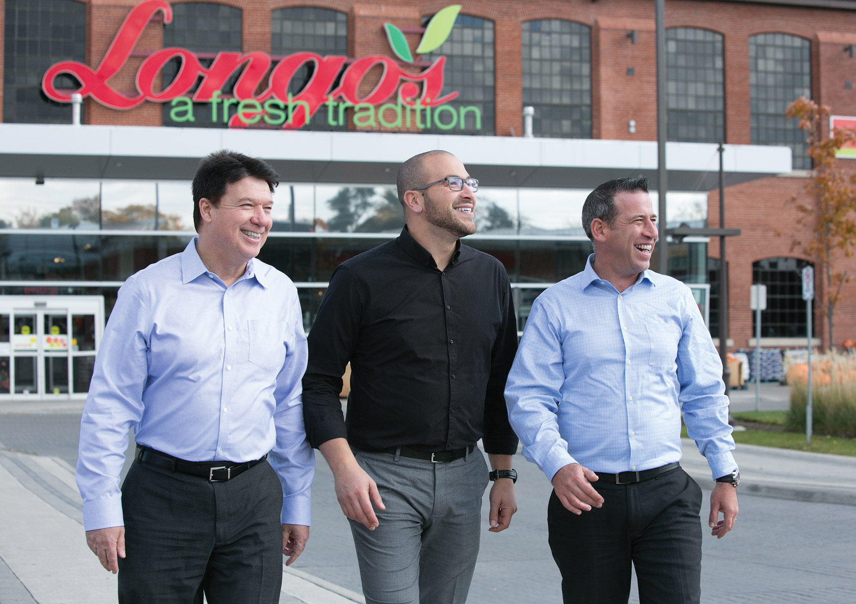 Tim Gibson, Mimmo Franzone, and Bruno Bertucci, Longo's produce experts