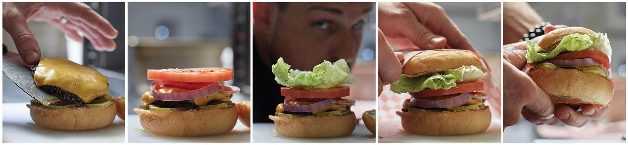 The perfect burger requires perfect balance, in Ryan's view, a perfect ratio of ingredients and seasoning