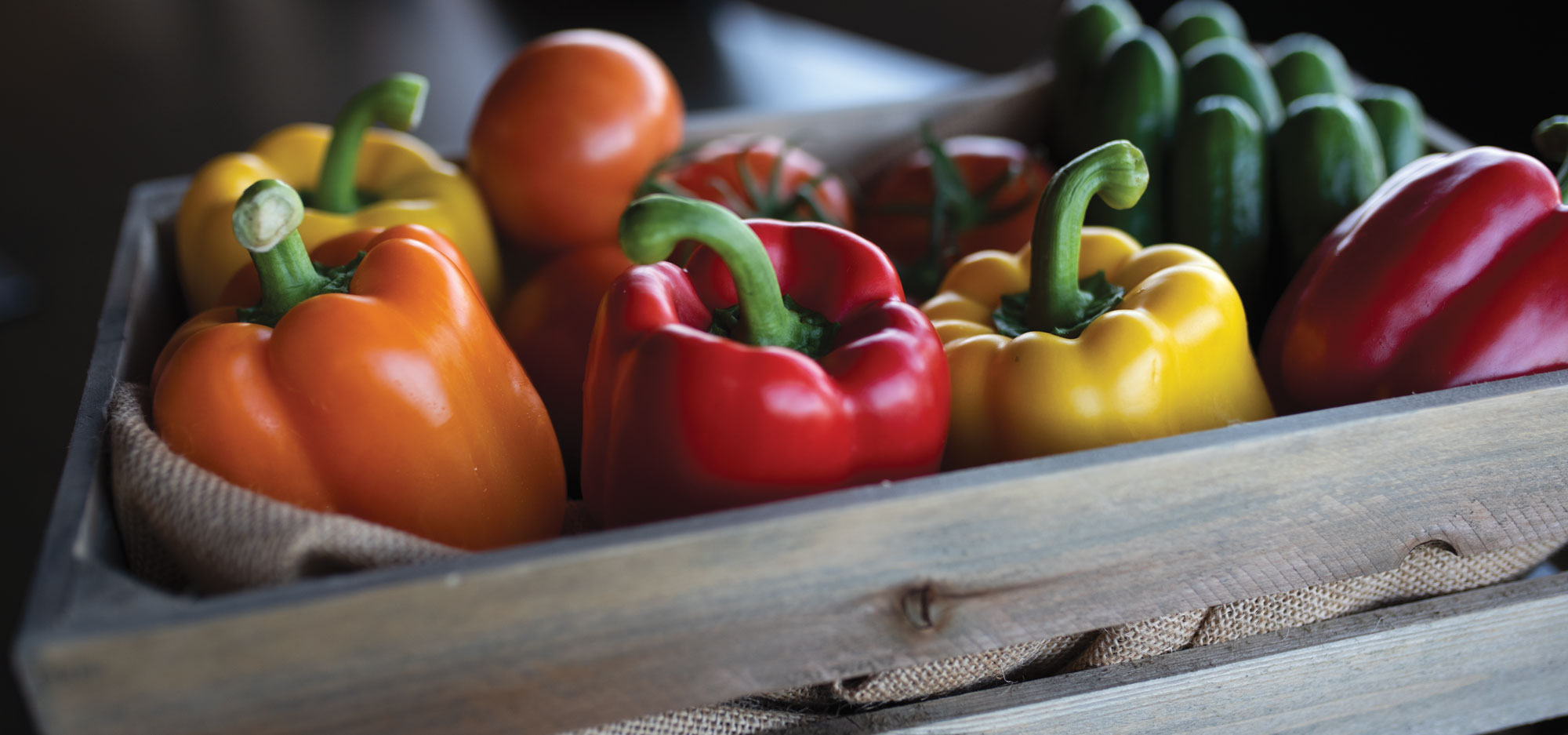 Red Sun Farms prides itself in providing greenhouse-grown organic bell peppers, as well as cucumbers and tomatoes