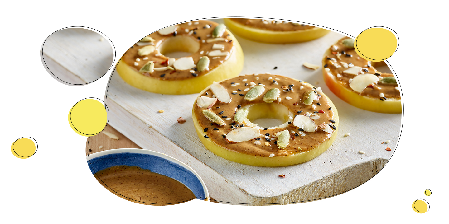 Lemonade™ Apples and nut butter make a great fiber- and protein-rich combination