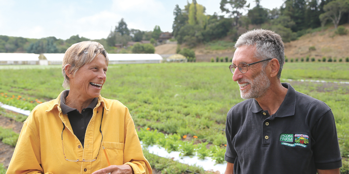 Sandra Belin and Larry Jacobs founded Jacobs Farm in 1980