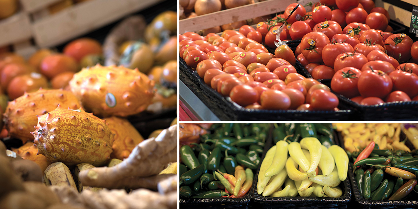 Mom's maximizes locally grown produce offerings.