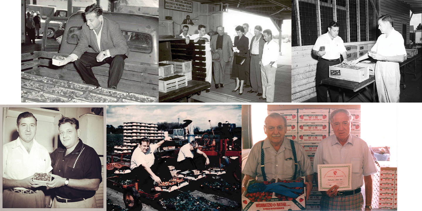 Brothers Joe and Lester Wishnatzki throughout the years