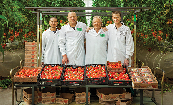 From left to right: Utah Assistant Grower Noel Waters, Chairman Casey Houweling, Head Corporate Grower Arie van der Giessen, Utah General Manager/Head Grower Roy van Spronsen