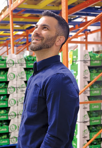 Andrew Amodeo relishes his career as he surveys a Catania warehouse