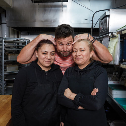 Vanessa, Ryan, and Anna have an easy-going rapport that is priceless in making the business run