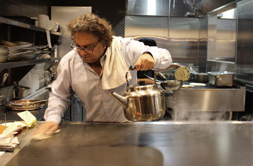 Chef Vikram Vij in his element at Vij's Restaurant