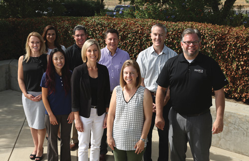 The Famous Software management team outside their offices in Fresno, California