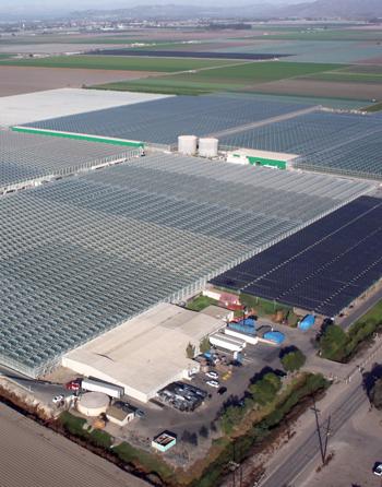 Aerial view of Camarillo, California facility