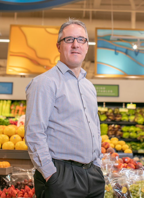 Paul Kneeland, Executive Director of Fresh Operations for Gelson's Markets, takes great pride in Gelson's fresh produce department