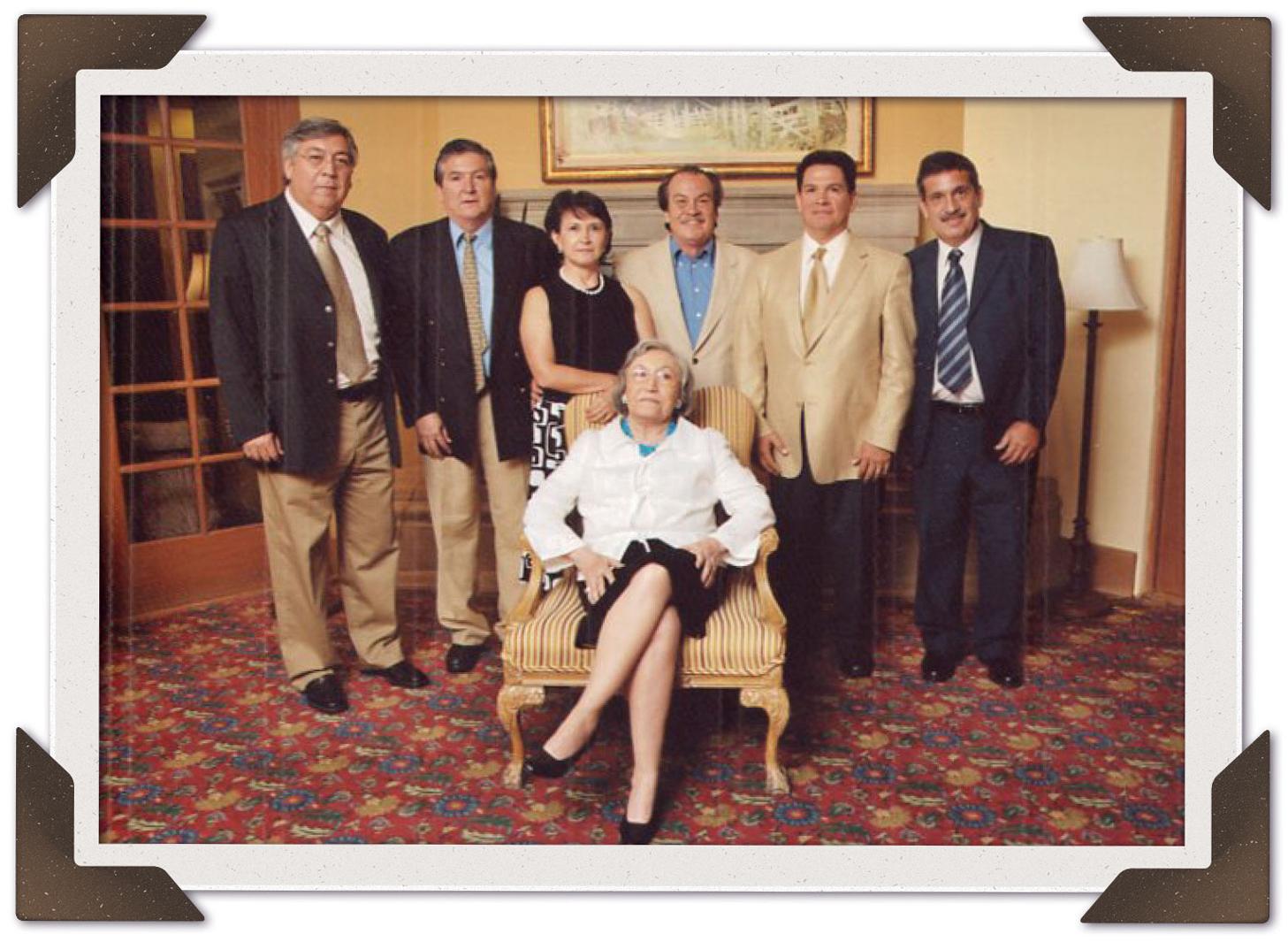 The Podesta Family. Enrique Podesta (far left) and Vita Podesta (center).