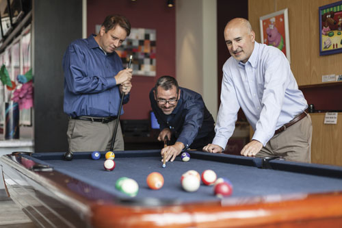 Left to right: Dave Donat, Marc Hatfield, and Tony Zuccato of Produce Pro Software