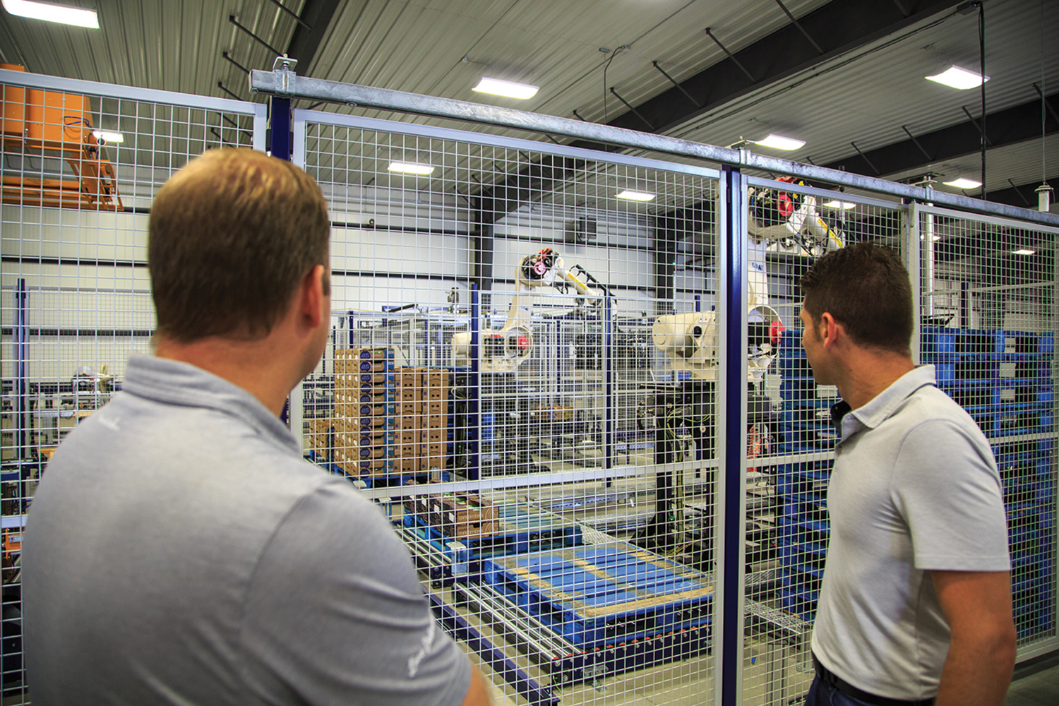 Robotics play a vital part in the packaging process at Pure Flavor®