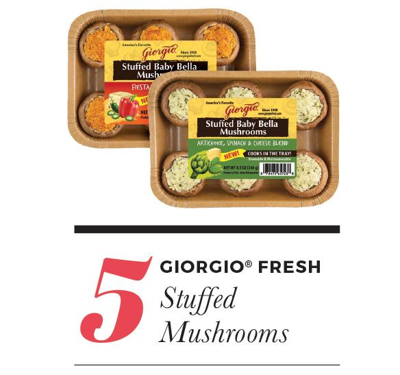 Girogio Fresh Stuffed Mushrooms