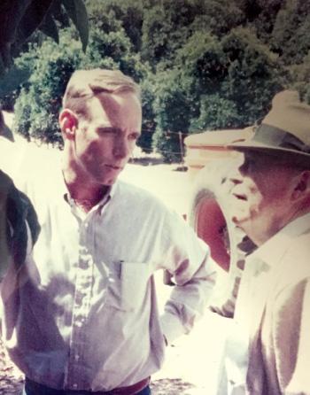 Steve Barnard and Jack Simplot