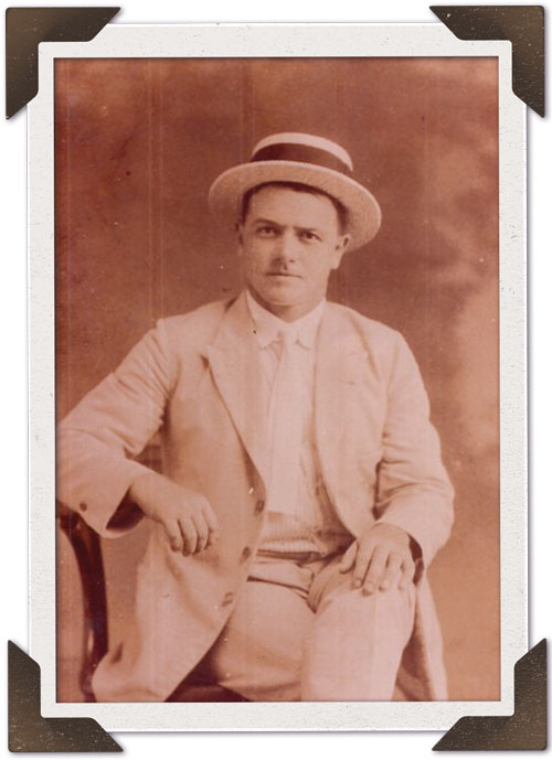 Julio Podesta Sambuceti as a young man.