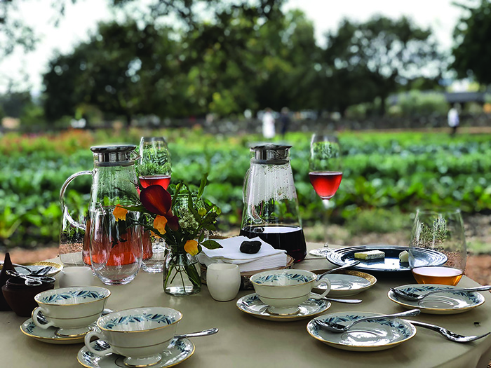 Bleu Belle Farm offers picnics under its beautiful trees for those who want to understand even further the roots of the amazing flavors of Atelier Crenn