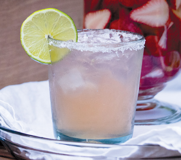 Strawberry-Infused Tequila Margarita