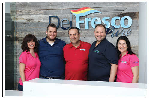 The team of DelFrescoPure®; From left to right: Suzy D'Alimonte, Ray Mastronardi, Carl Mastronardi, Jamie D'Alimonte, and Tina D'Alimonte