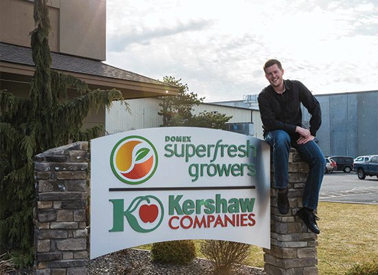 Tyler Weinbender outside of SuperFresh Growers HQ