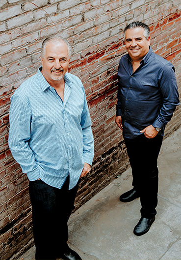 "Co-Founders Gary Clevenger  (left) and Jesus ""Chuy"" Loza (right)"