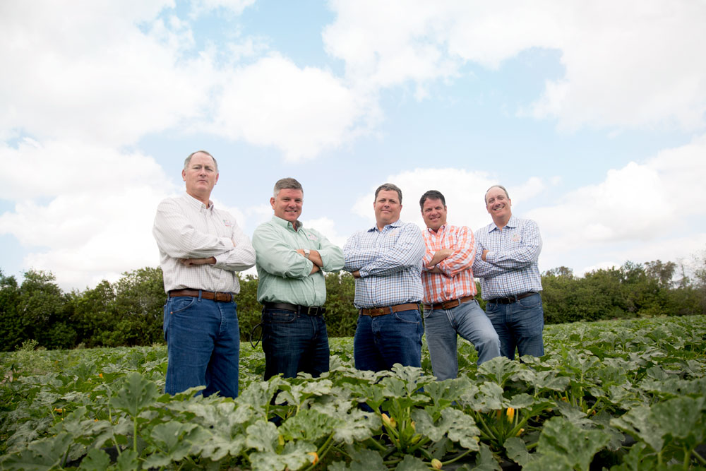 From left to right: Richard Bowman, Director of Farming; Michael Butler, Senior VP of Operations; Kohl Brown, VP of Sales; Brian Rayfield, VP of Business Development & Marketing; Chris Coffman, Senior VP of Sales & Marketing
