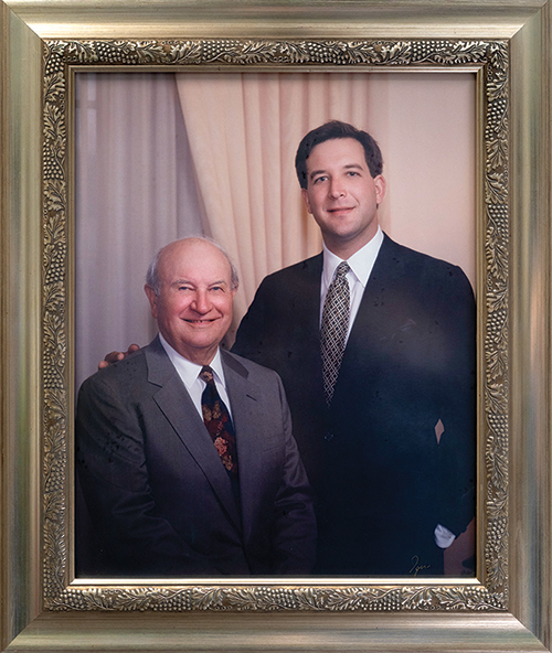 Martin Zaninovich (left), past President and Co-Founder, with his son and current President, Jon Zaninovich (right)