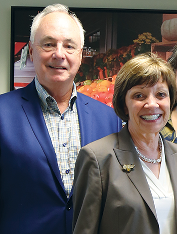 Steve Church, current LGMA Chairman, with California Secretary of Agriculture Karen Ross