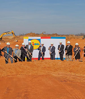 Mebane, NC, regional headquarters/distribution center groundbreaking