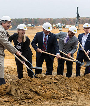 Spotsylvania County, VA, regional headquarters/ distribution center groundbreaking