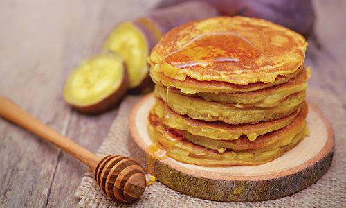 Sweet Potato and Honey Pancakes