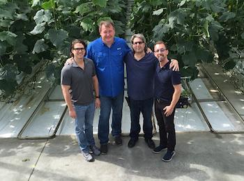 Left to Right: Paul J. Mastronardi, Harold Paivarinta, Jamie Mastronardi and Louis Chibante