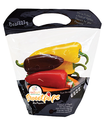 100-percent greenhouse grown Sweetpeps are an exceptional sweet pepper with a rainbow of colors