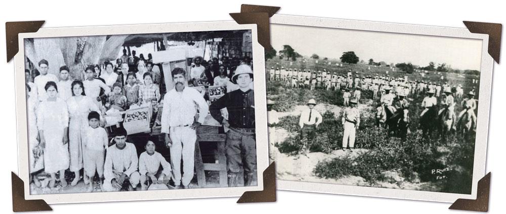 Mexican farmers working Santa Teresa Fields.