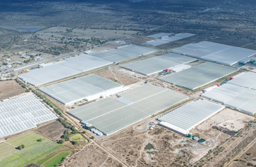 Aerial shot of the United Farms facilities within Agropark