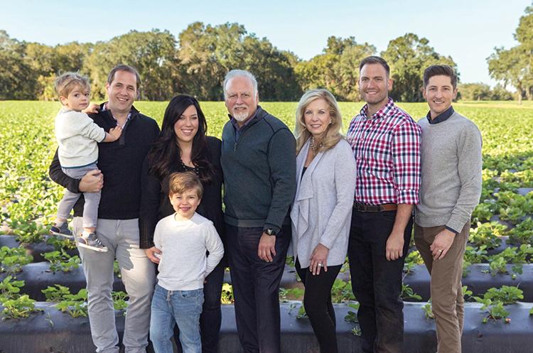 Family photo from left to right: Joey Peterson, James Peterson, Elizabeth Peterson, Will Peterson, Gary Wishnatzki, Therese Wishnatzki, Nick Wishnatzki, and Stephen Cramer