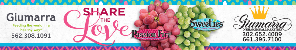 Share the Love with Giumarra Vineyards Passion Fire and Sweeties Table Grapes